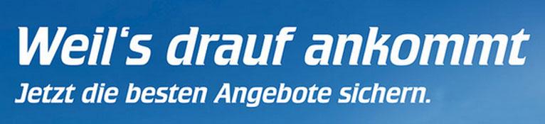 """Banner der Reifenbörse Arnold mit dem Slogan """"Weil's drauf ankommt - Jetzt die besten Angebote sichern."""