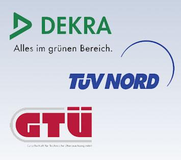 Logos der TÜV-Partner