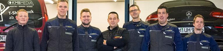 Das Werkstatt-Team der Reifenbörse Arnold.